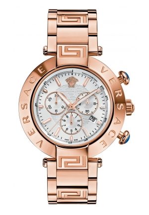 VERSACE Swiss Chronograph Reve Rose Gold Ion-Plated 46mm