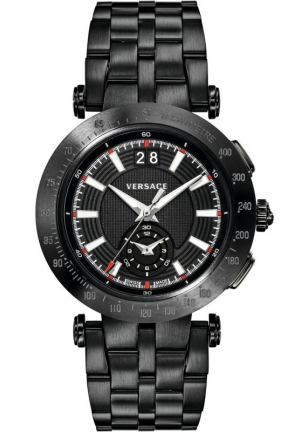 V-RACE SWISS QUARTZ STAINLESS STEEL CASUAL WATCH , 42MM