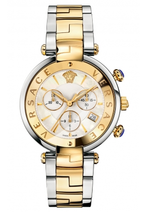 REVIVE CHRONOGRAPH TWO TONE STEEL DATE LADIES WATCH 41MM