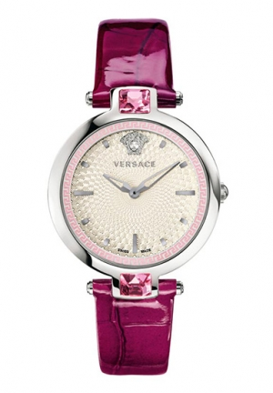 OLYMPO CRYSTAL GLEAM PINK CRYSTALS VIOLET LEATHER, 36.5MM