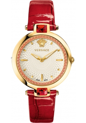 Versace Crystal Gleam White Guilloche Dial Ladies Watch