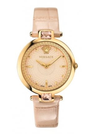 OLYMPO CRYSTAL GLEAM CROCODILE DESIGN IVORY LEATHER, 36.5MM