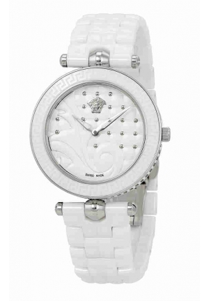 VANITAS WHITE QUILTED DIAL LADIES WATCH VAO010016, 40MM