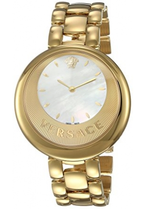 PERPETUELLE MOP DIAL GOLD IP STEEL WRISTWATCH, 40MM