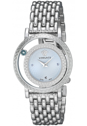 VENUS BLUE DIAL STAINLESS STEEL BRACELET LADIES WATCH , 33MM