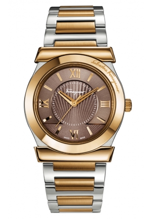 VEGA Analog Display Swiss Quartz Two Tone Watch 38mm