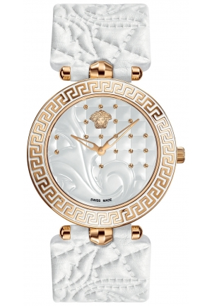 VERSACE Swiss Vanitas White Calfskin Leather Strap 40mm