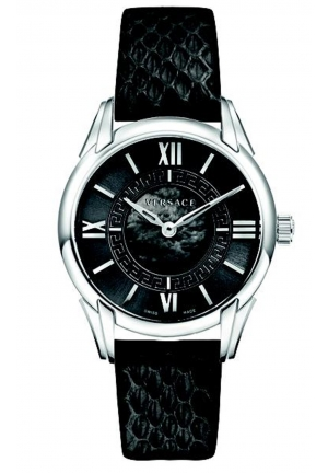 DAFNE STAINLESS STEEL BLACK WATCH , 33MM