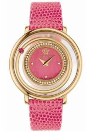 VENUS ANALOG DISPLAY QUARTZ PINK WATCH 39MM