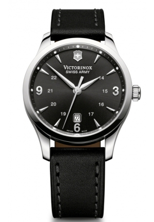 VICTORINOX SWISS ARMY Men's Alliance Black Leather Strap 241474 40mm