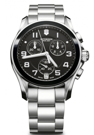 VICTORINOX SWISS ARMY Men's Chronograph Stainless Steel Bracelet 241544 41mm