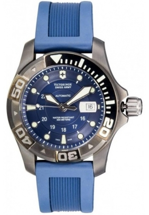 VICTORINOX SWISS ARMY Men's Dive Master 500 Black Ice Blue Dial Watch 241425 43mm