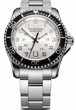 VICTORINOX SWISS ARMY Men's Maverick Silver Dial Watch 241437 43mm
