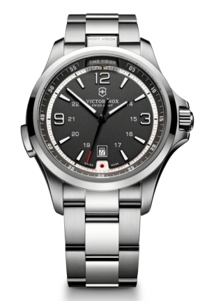VICTORINOX SWISS ARMY Men's Night Vision Stainless Steel Bracelet 241569 42mm
