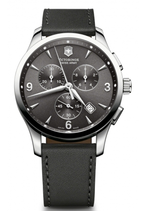 VICTORINOX SWISS ARMY Swiss Army Alliance Chronograph Black Strap Mens Watch 241479 42mm
