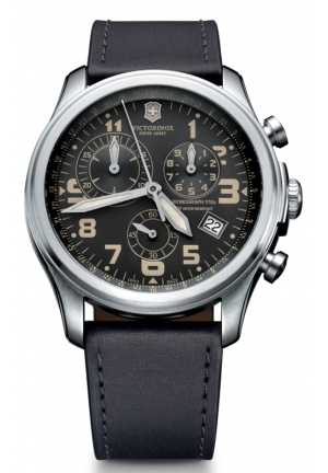VICTORINOX SWISS ARMY Swiss Army Infantry Vintage Chronograph Gray Dial Mens Watch 241314 44mm