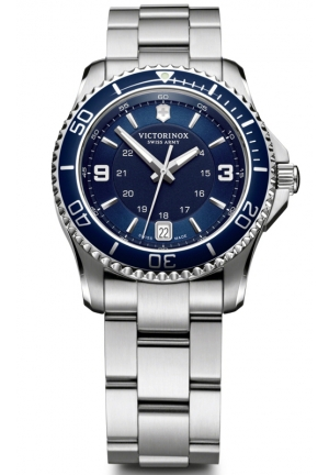 VICTORINOX SWISS ARMY Swiss Army Maverick Blue Dial Stainless Steel Ladies Watch 241609 34mm