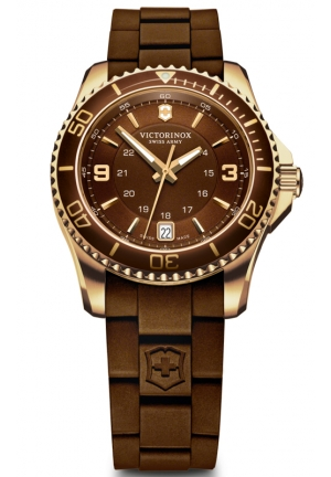 VICTORINOX SWISS ARMY Swiss Army Maverick GS Brown Dial Brown Rubber Ladies Watch 241615 30mm