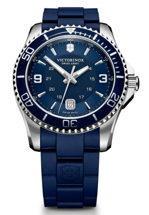 VICTORINOX SWISS ARMY Swiss Army Maverick GS Navy Dial Navy Blue Rubber Mens Watch 241603 43mm