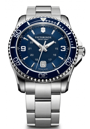 VICTORINOX SWISS ARMY Swiss Army Maverick GS Navy Dial Stainless Steel Mens Watch 241602 43mm