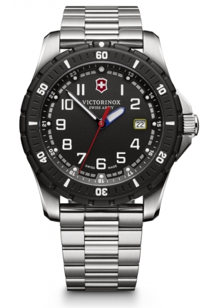 VICTORINOX SWISS ARMY Swiss Army Maverick Sport Black Dial Stainless Steel Mens Watch 241679 43mm