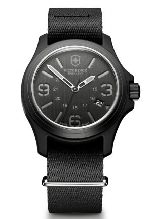 VICTORINOX SWISS ARMY Swiss Army Original Quartz Black Dial Mens Watch 241517 40mm