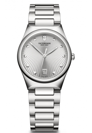 VICTORINOX SWISS ARMY Swiss Military Victoria Silver Dial Stainless Steel Ladies Watch 241635 32mm