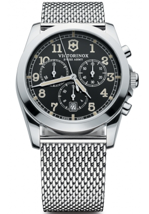 VICTORINOX SWISS ARMY wiss Army Infantry Chronograph Black Dial Mens Watch 241589 40mm