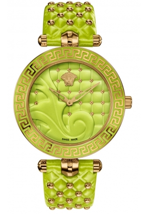VANITAS GREEN DIAL LEATHER STRAP LADIES WATCH x, 40MM