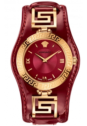 V-SIGNATURE ANALOG DISPLAY SWISS QUARTZ RED WATCH, 35 MM