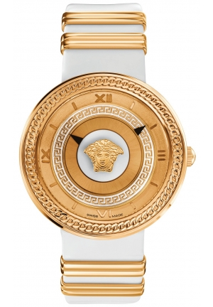 VERSACE Unisex Swiss V-Metal Rose Gold Ion-Plated Accent 40mm