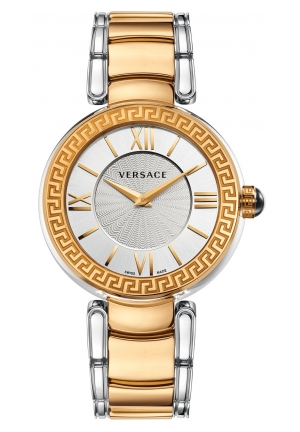 VERSACE Swiss V-Pearl Two-Tone Stainless Steel Bracelet 38mm