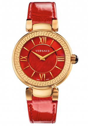 LEDA RED DIAL LADIES WATCH , 38MM
