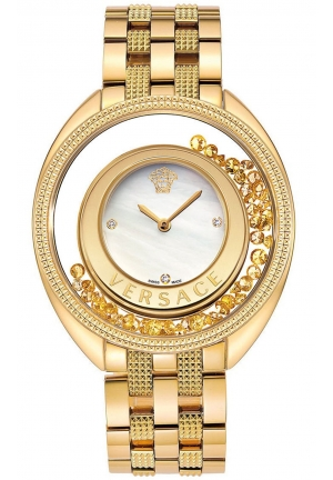 DESTINY PRECIOUS GOLD-TONE STAINLESS STEEL LADIES WATCH  39MM