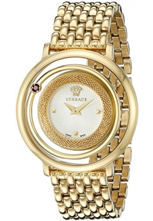VENUS GOLD-TONE STAINLESS STEEL WATCH, 39MM