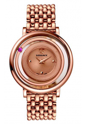 VENUS ROSE GOLD-TONE STAINLESS STEEL WATCH, 39MM