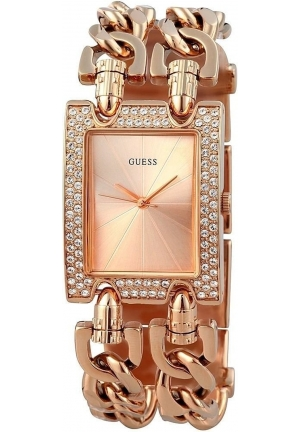 Guess Analog Display Quartz Rose Gold Ladies Watch