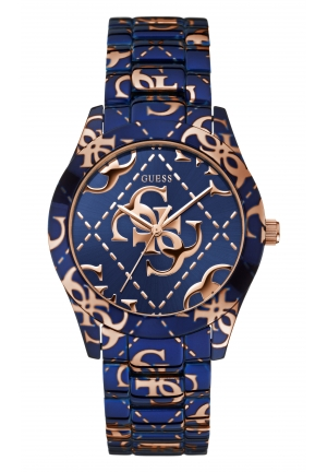 GUESS LADIES' LOGO CRAZED WATCH