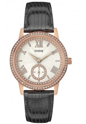 GUESS Gramercy rose gold with grey strap 39mm