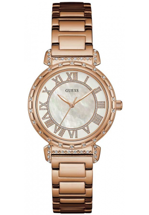 GUESS Ladies Rose Gold-Tone Watch