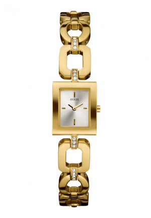 GOLD CASE AND BRACELET GOLD DIAL WATCH 20 X 20MM