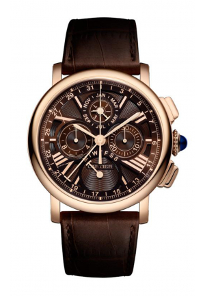 ROTONDE DE CARTIER PERPETUAL CALENDAR CHRONOGRAPH WATCH W1556225, 42MM