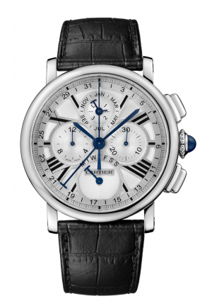 ROTONDE DE CARTIER PERPETUAL CALENDAR CHRONOGRAPH WATCH W1556226, 42MM