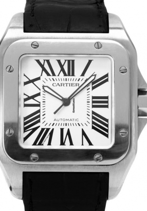 Cartier Santos 100 Large in Stainless Steel
