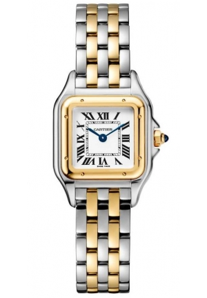 PANTHÈRE DE CARTIER WATCH SMALL MODEL, YELLOW GOLD AND STEEL W2PN0006, 22 X 30MM