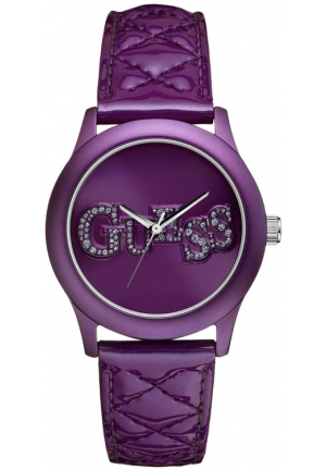 Guess  ladies purple leather watch 40mm