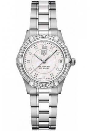 Women's Swiss Aquaracer Diamond (5/8 ct. t.w.) Stainless Steel Bracelet 32mm WAF1313.BA0819