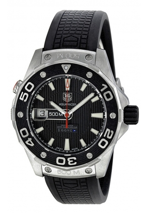 AQUARACER DEFENDER BLACK RUBBER MEN'S WATCH 43MM,WAJ2119.FT6015