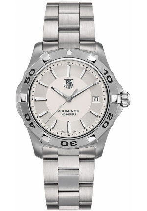 Men's Swiss Aquaracer Stainless Steel Bracelet 39mm WAP1111.BA0831