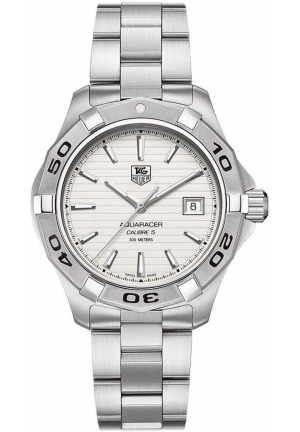 Men's Automatic Aquaracer Calibre 5 Stainless Steel Bracelet 41mm WAP2011.BA0830